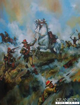 Hlobane 22nd March 1879 - Mossops Leap, Trooper Mossop and Warrior by Jason Askew