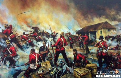 Rorkes Drift 22nd January 1879 - Defending the Store House by Jason Askew