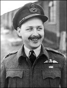 """Wing Commnader John. C. Freeborn was born on the 1st of December 1919 in Middleton, Yorkshire. John left grammar school at 16 and joined the RAF in 1938, where he made 14 shillings a week and shot pheasant in his spare time. He later visited his classmates after flight school by landing his plane on a nearby cricket pitch. In March 1938 John Freeborn was commissioned in the RAFO, and on the 9th of April 1938 went to Montrose and joined 8 FTS, where he completed his training before going to 74 """"Tiger"""" Squadron at Hornchurch on 29th October. He relinquished his RAFO commission on being granted a short service one in the RAF in January 1939. Johnie Freeborn flew Spitfires with 74 Squadron over Dunkirk, and claimed a probable Ju 88 on May 21st 1940. On the 22nd of May 1940 he destroyed a Junkers 88, and a probable Bf 109 on the 24th of May followed soon after on the 27th by a Bf 109 destroyed and another probably destroyed. On one occasion his Spitfire was badly damaged over Dunkirk and he crash-landed on the beach near Calais but managed to get a lift home in a returning aircraft. His squadron flew relentlessly during the Battle of Britain. In one eight-hour period, its pilots flew into combat four times, destroying 23 enemy aircraft (three by John Freeborn) and damaging 14 more. Five kills denoted an Ace and by the end of the Battle of Britain, John had seven to his credit and won the DFC. John claimed a Bf 109 destroyed on 10th July, shared a probable Dornier 17 on the 24th, shot down a Bf 109 on the 28th, destroyed two Bf 110s, a Bf 109 and probably another on 11th August, destroyed a Do 17 on the 13th, destroyed another on 11th September and damaged an He 111 on the 14th. Freeborn was made a Flight Commander on 28th August. He shared a Bf 109 on 17th November, shot down two Bf 109s, shared another and damaged a fourth on 5th December, and damaged a Dornier 17 on 5th February and 4th March 1941. John Freeborn had been with his squadron longer, and flown more hours, """