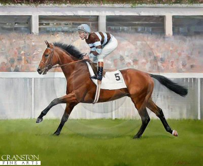 Sir Ivor and Lester Piggott (Epsom Derby) by Jacqueline Stanhope.