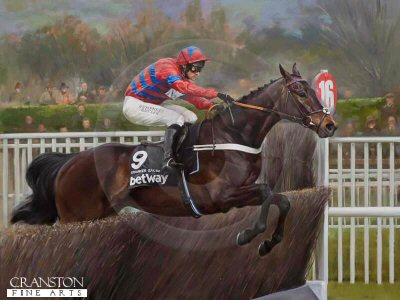 Sprinter Sacre and Nico de Boinville by Jacqueline Stanhope.