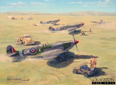 Mediterranean Spitfires by Keith Woodcock.