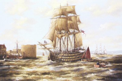 Victory at Portsmouth 1805 by Ken Hammond.