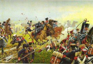 Die Schlacht bei Leipzig : Der Angriff des Brandenburgischen Husaren Regiments von Zeiten No3 bei Mockern, 16th Oktober 1813 by R Knotel
