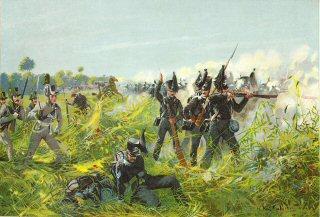 Die Braunschweiger bei Quatrebras am 16th Juni 1815 by R Knotel