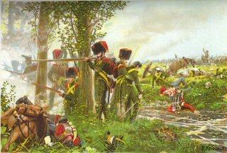 Die Nassauer bei Belle Alliance am 18th Juni 1815 by R Knotel