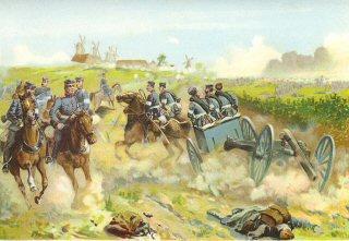 Die Eroberung der Jnsel Alsen 29th Juni 1864.  Kampf bei den Sonderburger Windmuhlen by Richard Knotel