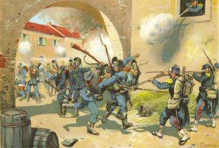 Schlacht bei Sedan. 1st September 1870 by Richard Knotel