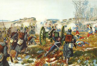 Die Sachsen bei Villiers. 30th November 1870  by Richard Knotel