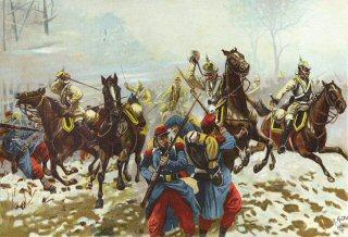 Sie I Kurassiere bei Poupry (Orleans). 2nd Dezmeber 1870 by Richard Knotel
