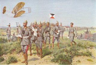 Kommandierender General mit seinem Stabe auf dem Manoverfelde by R Knotel