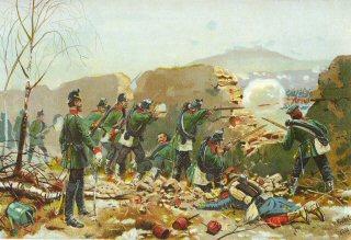 Das 5 Jager Batallion in der Schlacht am Mont Valerien. 19th Januar 1871 by Richard Knotel