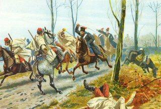 Das Konigshusaren Regiment No7 bei St Quentin. 19th Januar 1871 by Richard Knotel