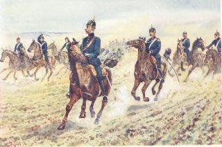 Reitende Artillerie im Borgehen by R Knotel