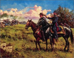 Reynolds & Buford at Gettysburg by Keith Rocco.