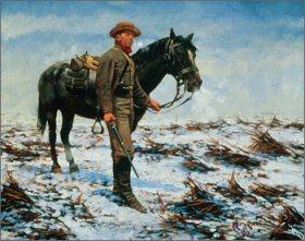The Vedette, Laurel Brigade Cavalry, Shenandoah Valley by Keith Rocco.