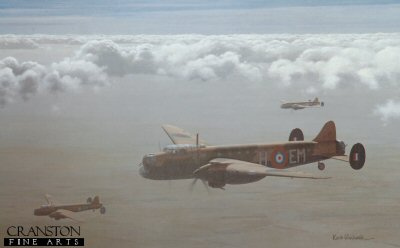 Avro Manchesters of 207 Sqn by Keith Woodcock.