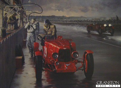 Night Stop - Le Mans 1935 by Keith Woodcock.