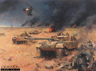 Army Challenger - Operation Desert Storm 1991 Gulf War by Terence Cuneo