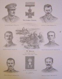 Victoria Cross Winners, W Beach Lancashire Landing.  Gallipoli, 25th April 1915 by Stuart Liptrot.