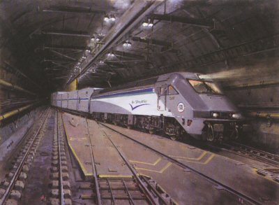 Le Shuttle by Terence Cuneo