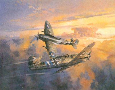 Final Encounter (Spitfire v Messerchmitt) by Michael Turner.