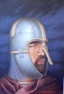 Anglo-Saxon 750 AD Wearing Coppergate Helmet by Stuart Liptrot (P)