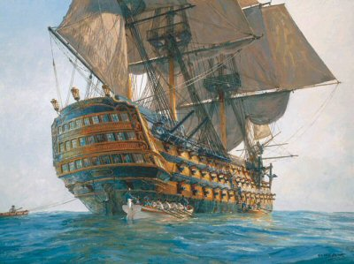 HMS Victory by Geoff Hunt.
