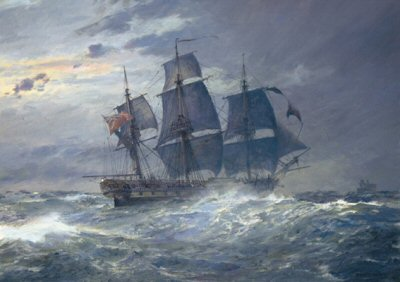 HMS Indefatigable by Geoff Hunt.
