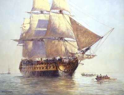 HMS Temeraire by Geoff Hunt.