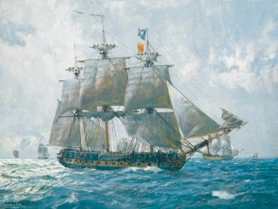 HMS Euryalus by Geoff Hunt.