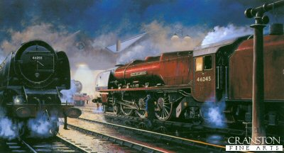 Stanier Pacifics at Rest, City of London & City of Hereford by Barry Price.
