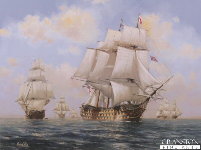 The Victorys Approach - Trafalgar 1805 by Barry Price.