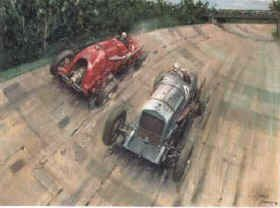 The Spirit of Brooklands 1932 by Terence Cuneo.