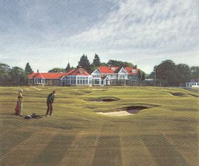 Muirfield (18th Hole) by Peter Munro