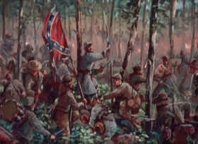 Original Oil Study of the Battle of Gettysburg painting by Mark Churms. (P)