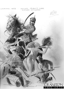 Study for the original painting Charge and Pursue.