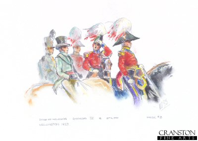 Duke of Orleans, George IV and Staff, 1829 by Mark Churms. (P)