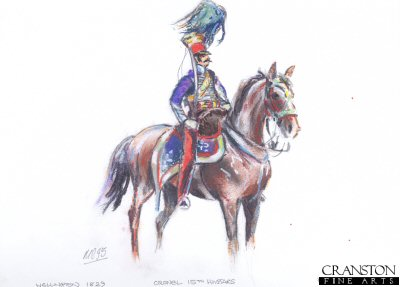 Colonel of the 15th Hussars, 1829 by Mark Churms. (P)