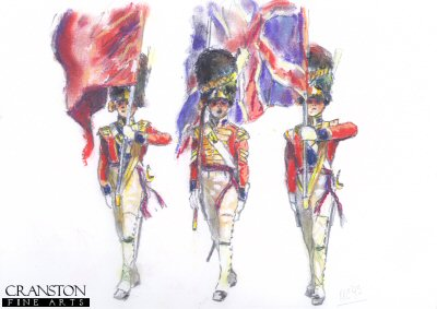 Study for the original painting March Past of the Grenadier Guards.