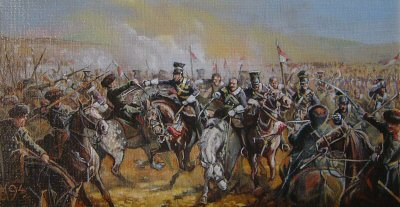 17th Lancers During the Charge of the Light Brigade by Mark Churms. (P)