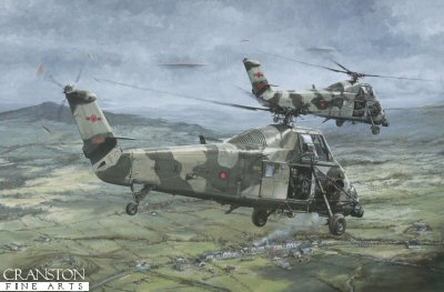 Wessex Over South Armagh by Michael Rondot.