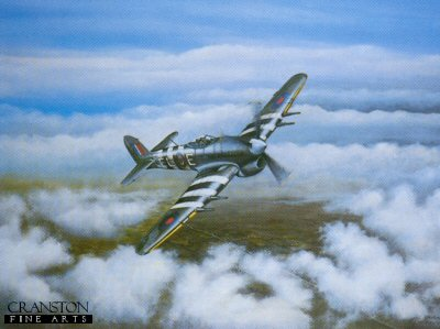 In Peaceful Skies (Hawker Typhoon) by Brian Robinson.