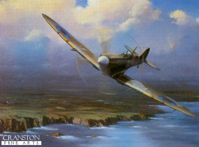Coastal Patrol Spitfire by Barry Price.