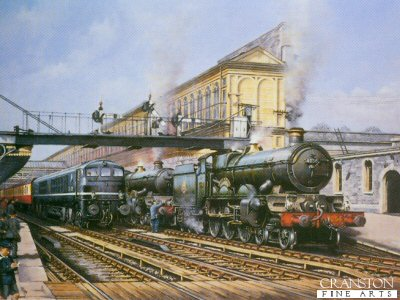 Exeter St Davids (Star and Castle Locos) by Chris Woods