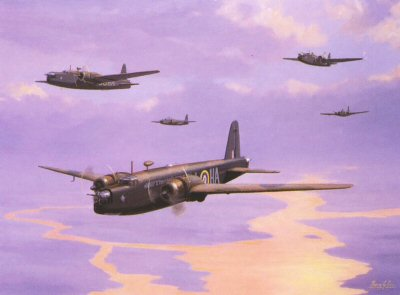 Wellingtons Mk1c Summer 1941 by Barry Price.