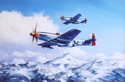P51D Mustangs, January 1945 by Barry Price.