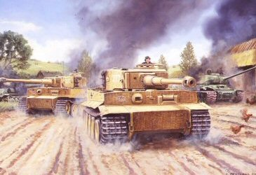 The Tigers Roar, Malinava, Latvia, July 22nd 1944 by David Pentland. (PC)