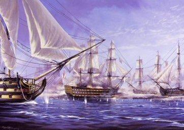 Breaking the Line at the Battle of Trafalgar by Graeme Lothian. (PC)