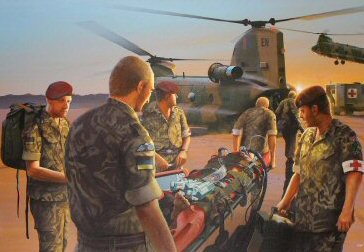 Dawn Casevac, 16 Close Support Medical Regiment - Iraq 2003 by Ivan Berryman. (PC)
